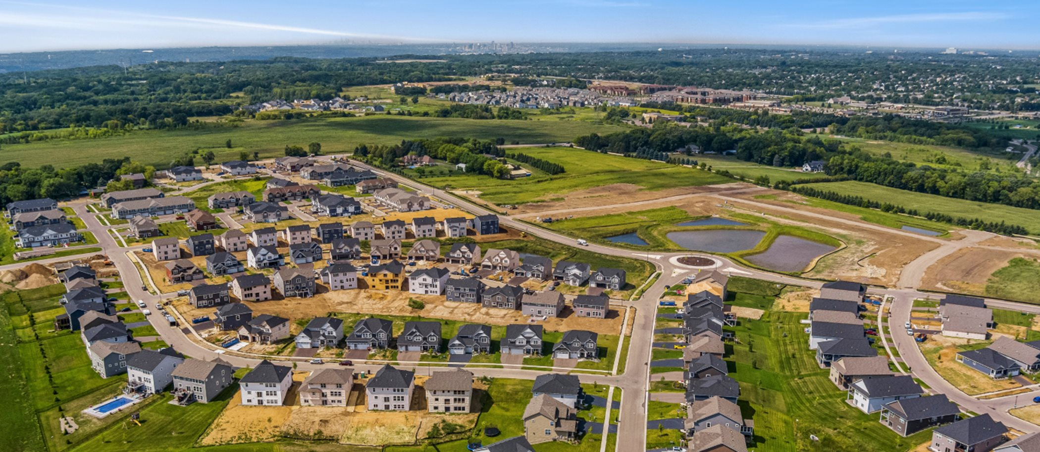 Landmark Collection at Bridlewood Farms Aerial View