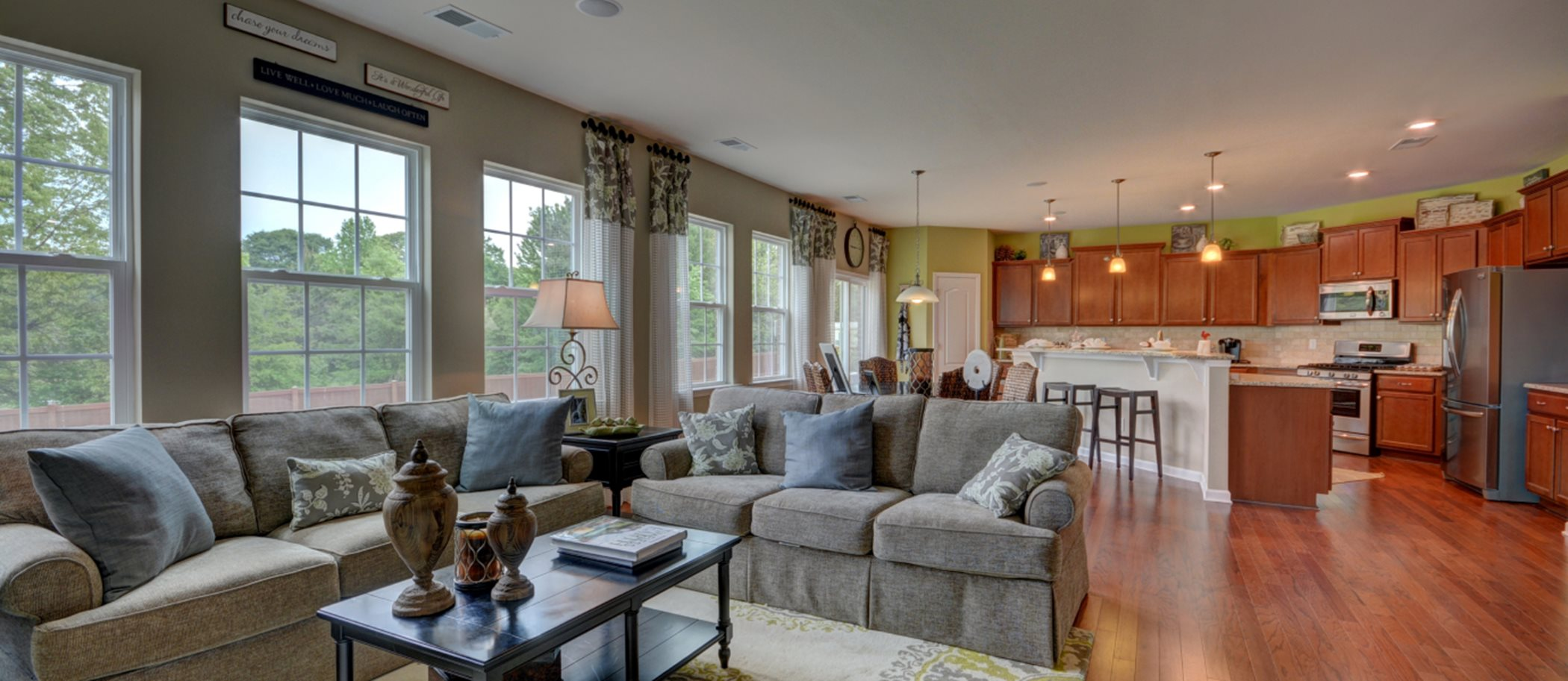 Chateau: Enclave Fairfield Family Room and Kitchen