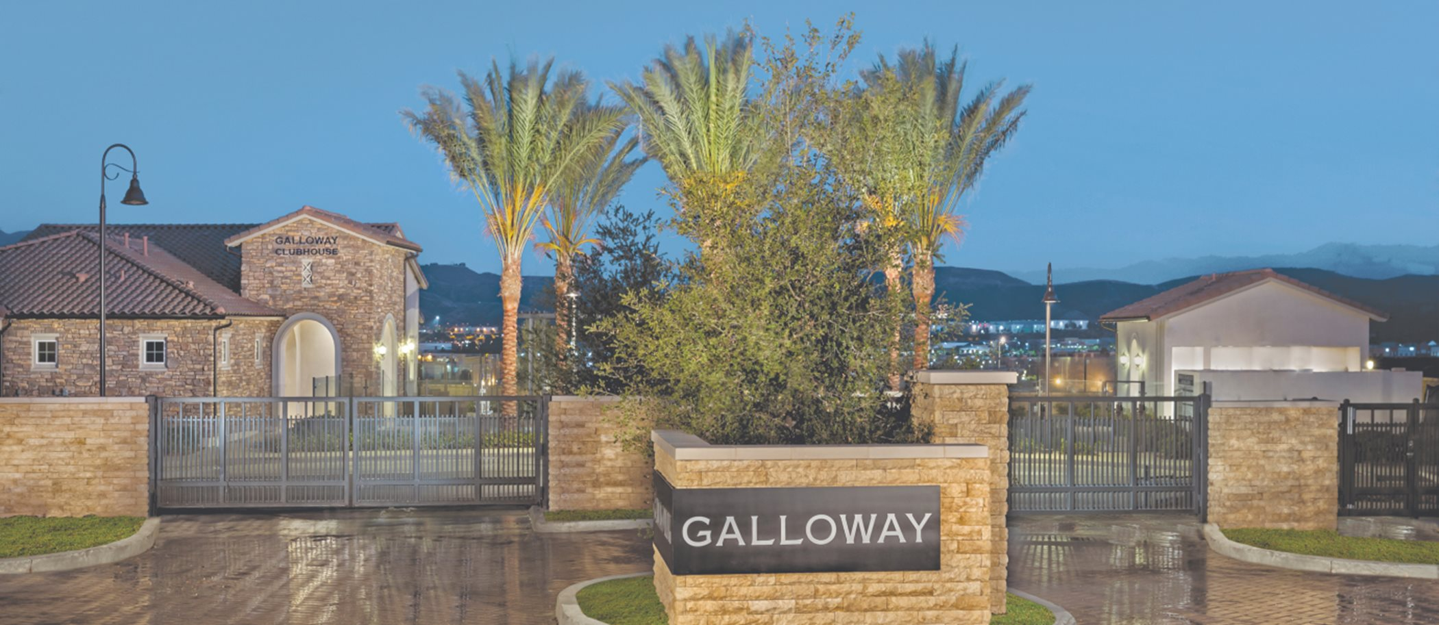 Five Knolls at Galloway gated entrance
