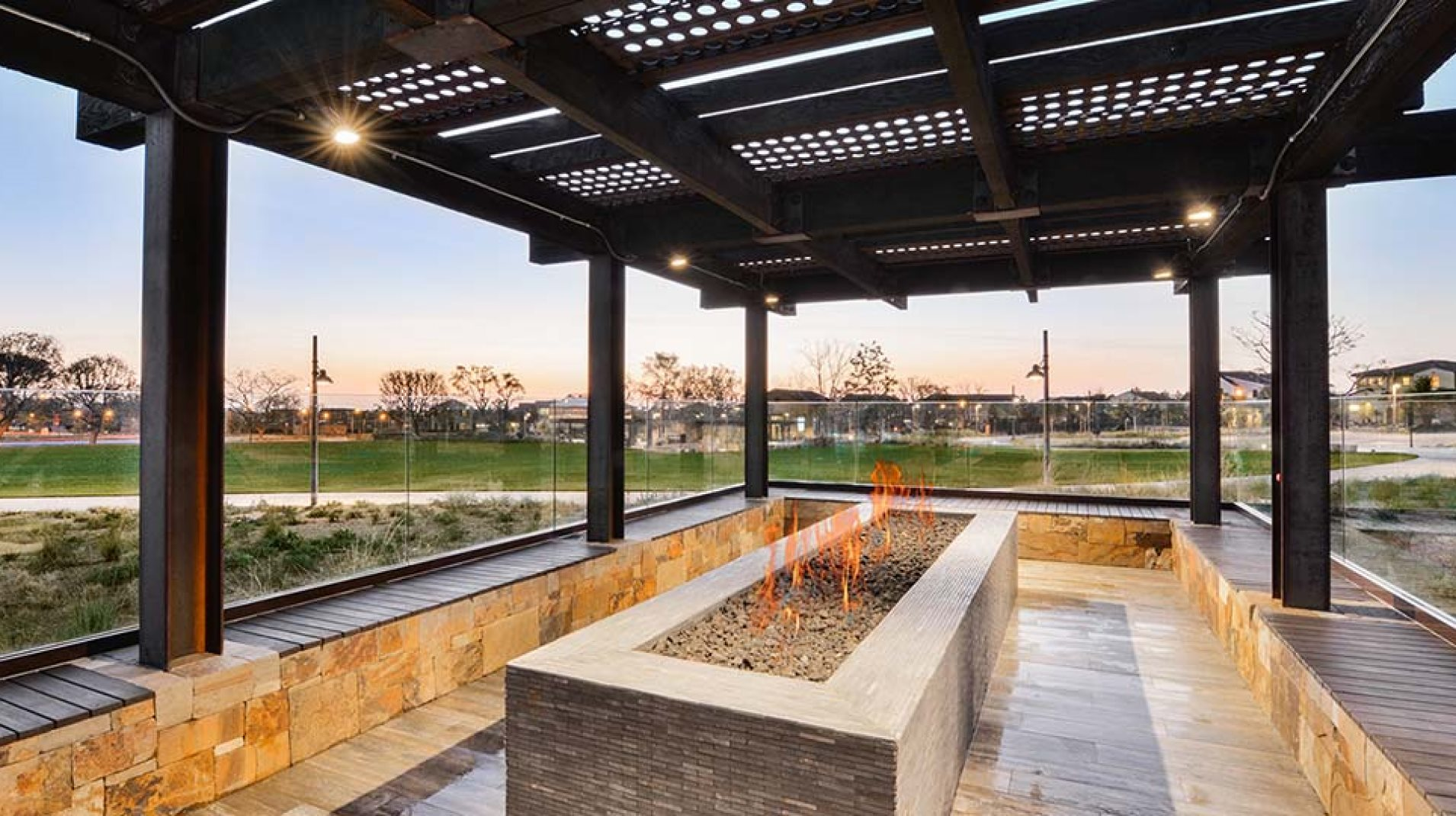 Great Park Neighborhoods Clubhouses, outdoor barbecues and firepits