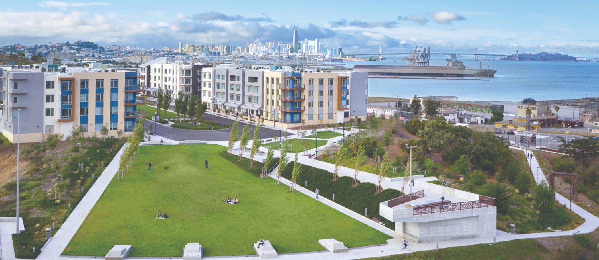 A view of the Shipyard community
