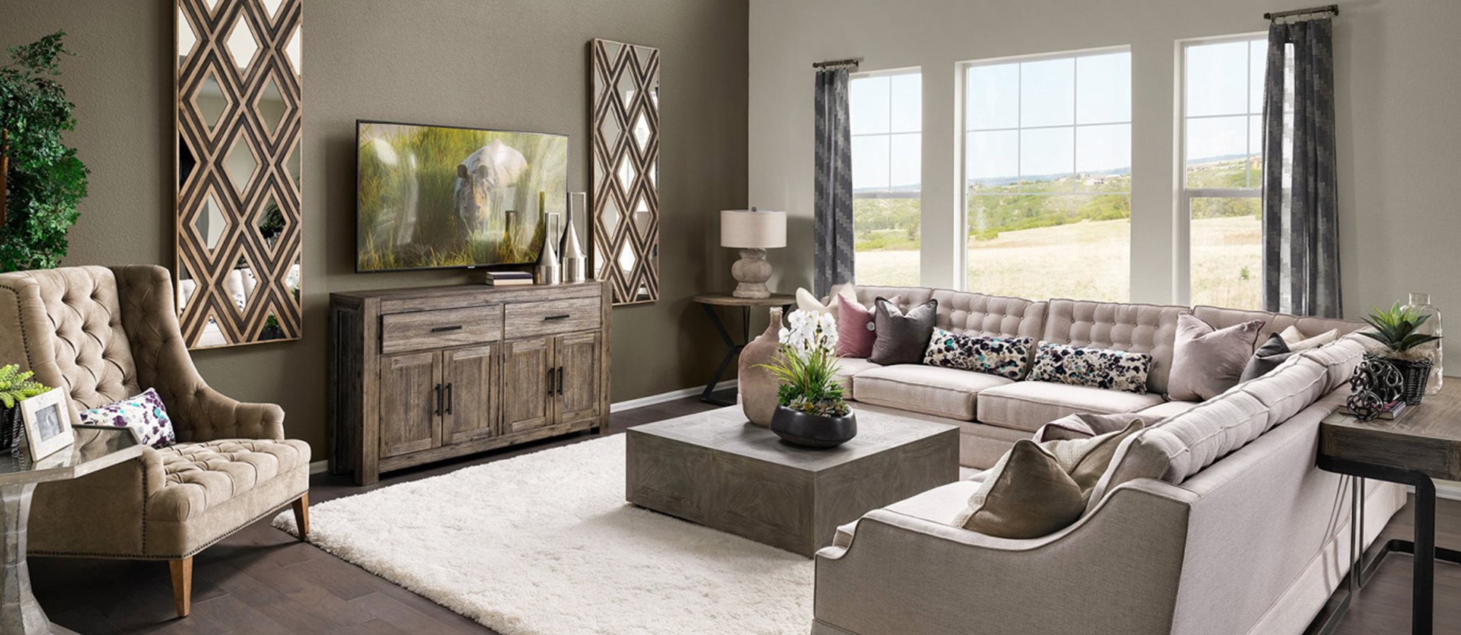 Gold Creek Valley The Monarch Collection Stonehaven Living Room