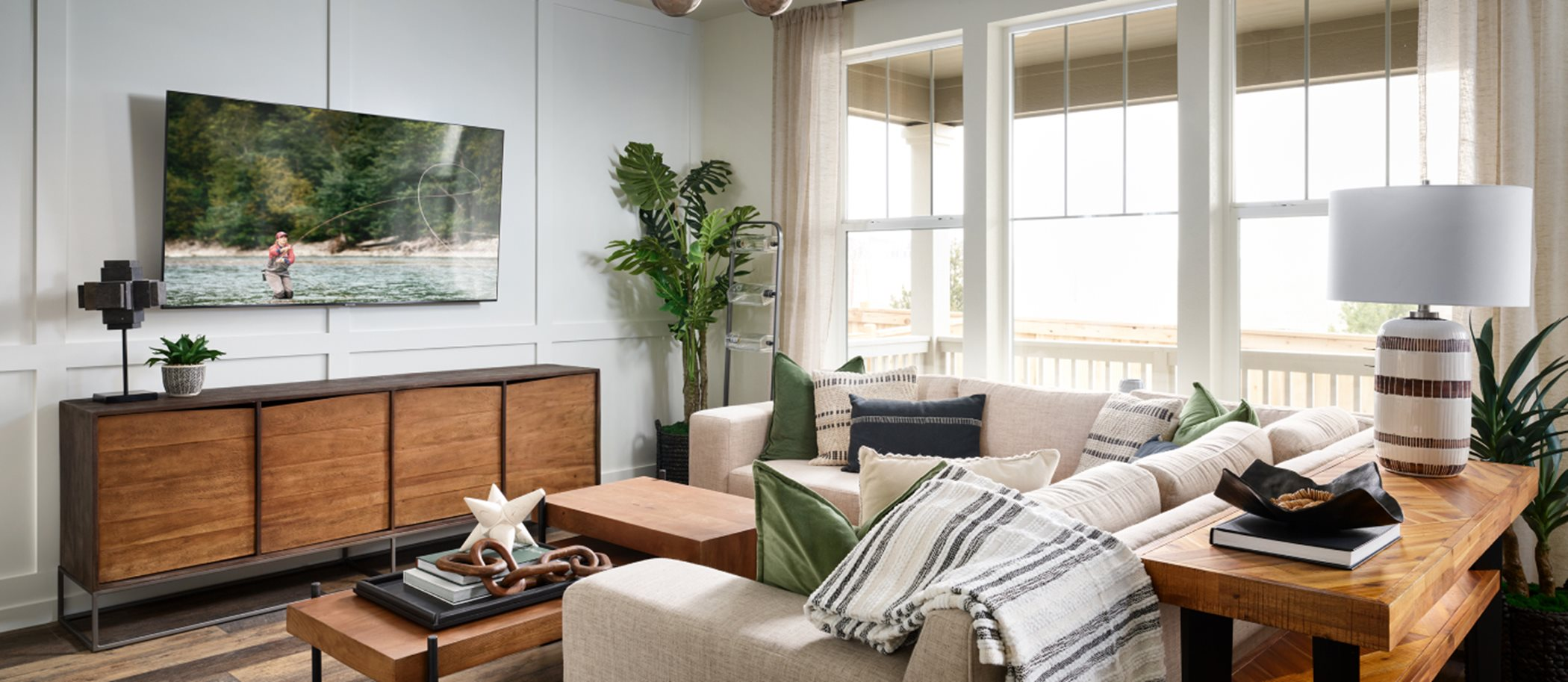 Buffalo Highlands Paired Homes Meridian Living Room