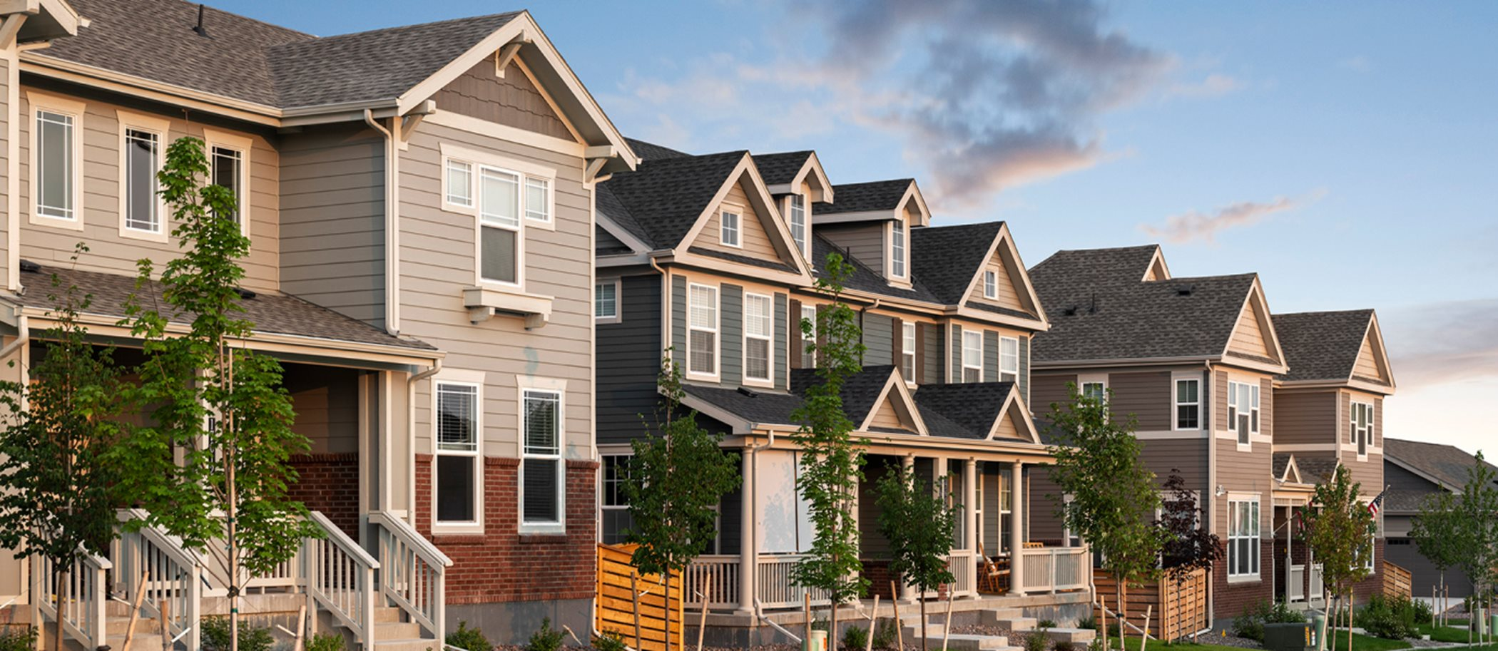 Streetscape at Paired Homes at Palisade Park West