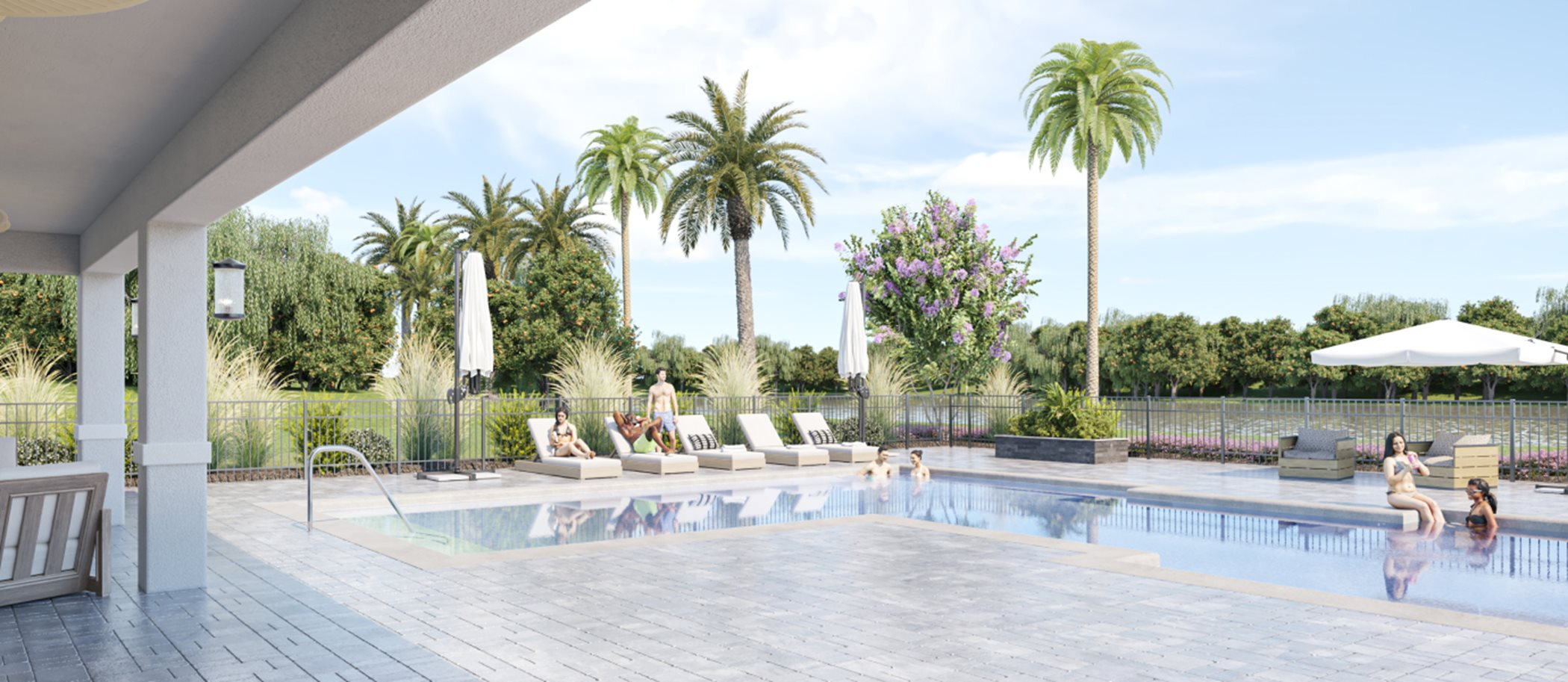 Everlands swimming pool and cabana