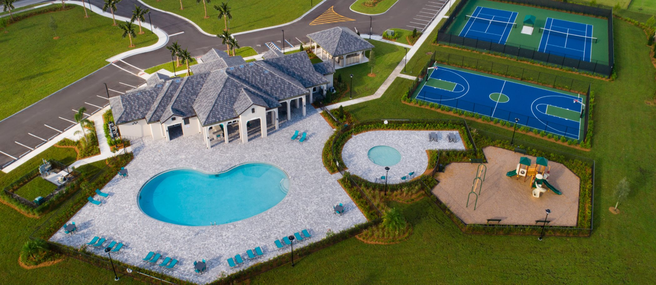Aerial view of Copper Creek Clubhouse and Swimming Pool