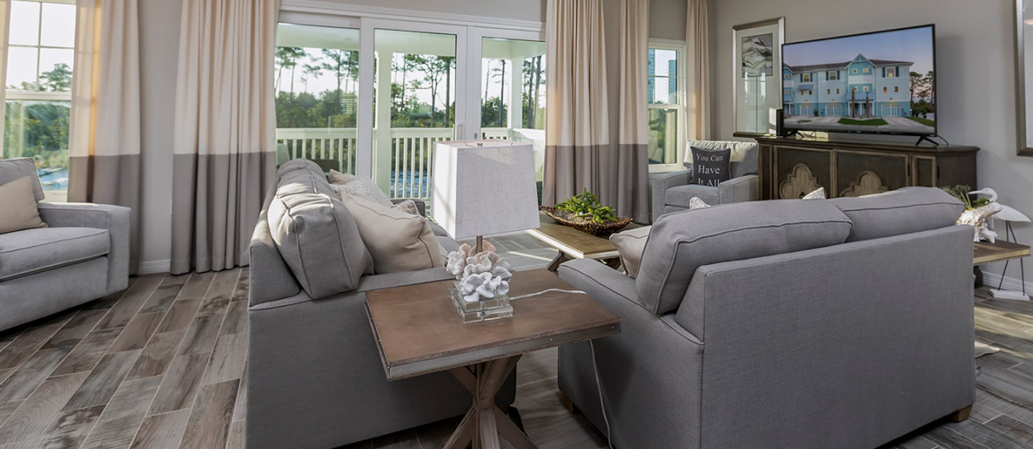 Lost Key Townhomes 3BR Townhome Living Room