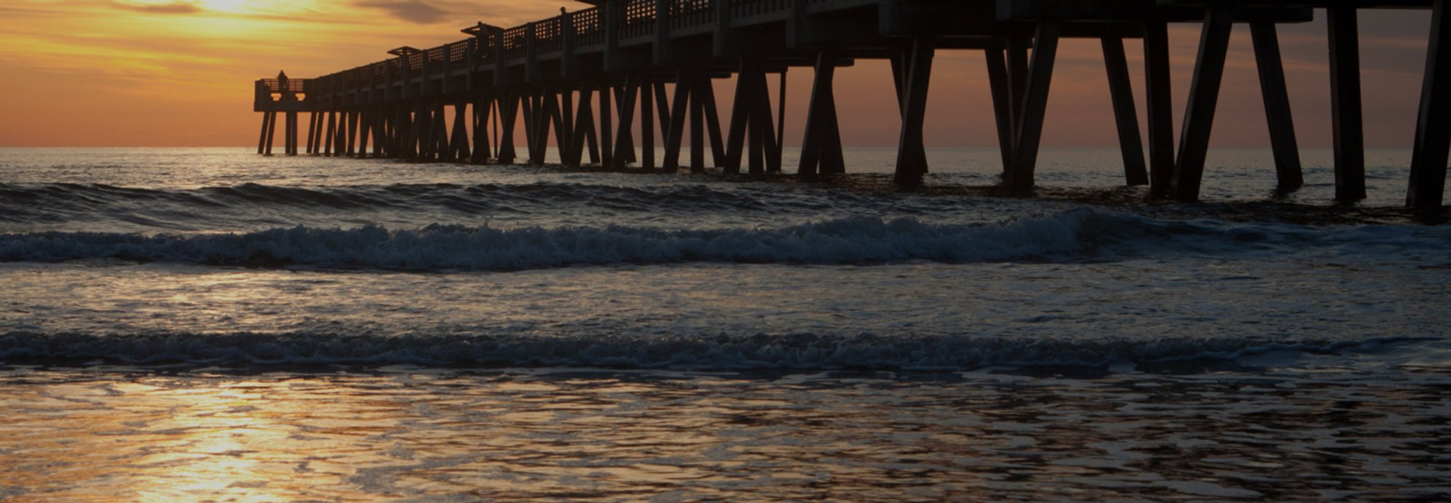 Jacksonville - St. Augustine Beach and Pier View