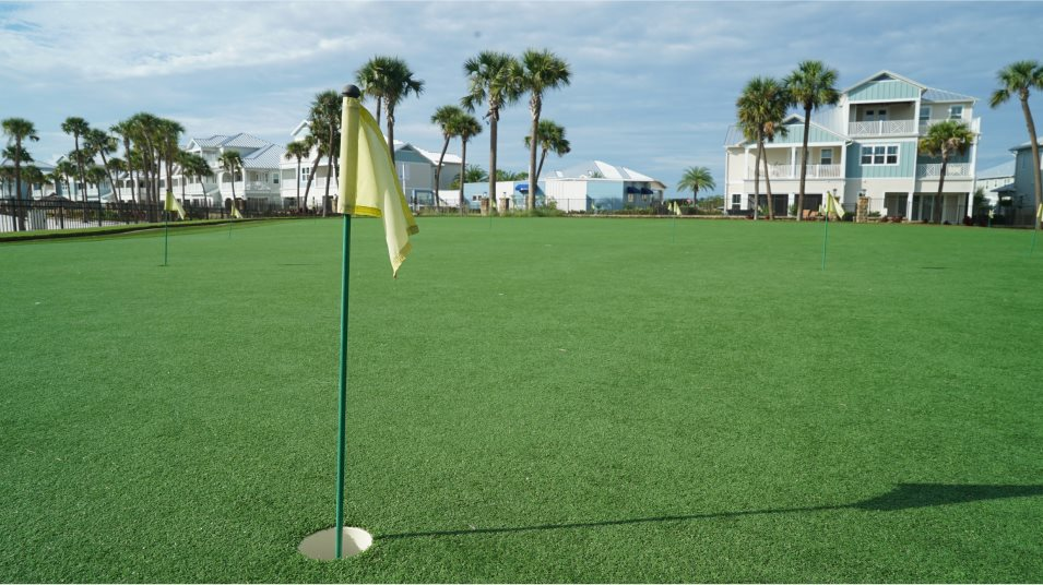 Beachwalk stroke at the on-site putting