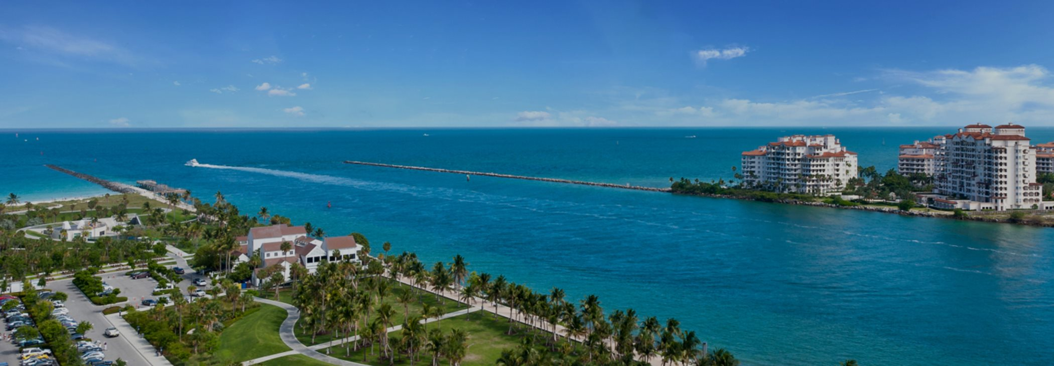 Miami South Pointe Park and Fisher Island