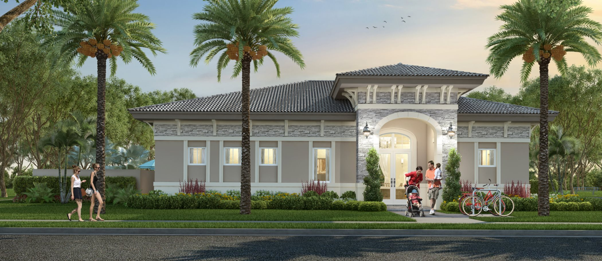 The Riviera newly designed homes easy access to Miami's downtown hub and the Florida Keys