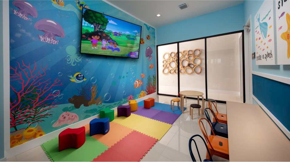 Aquabella playroom in the clubhouse