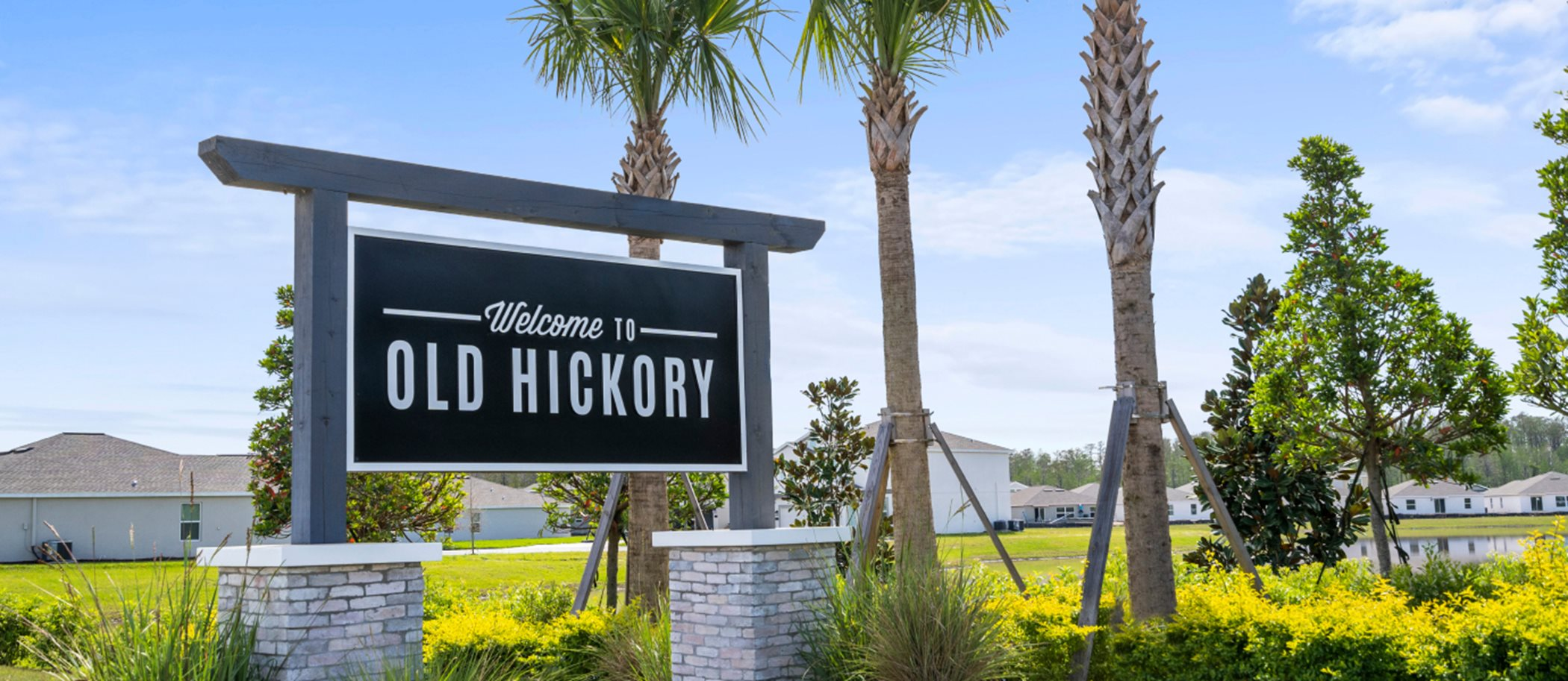 Old Hickory monument sign