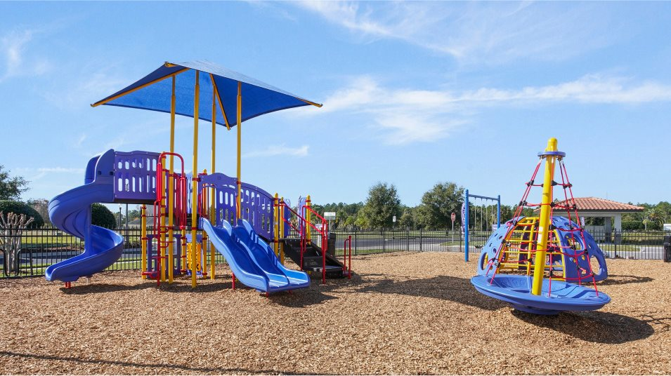 Providence Playground such as slides, swings and jungle gyms