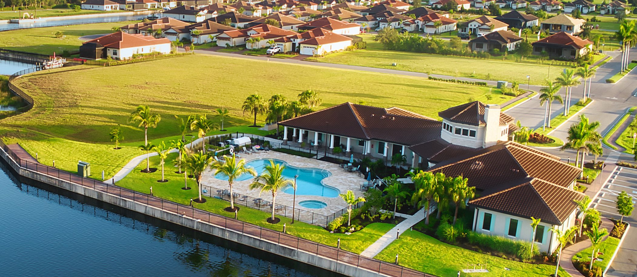 Sanctuary Cove Florida outdoors at waterfront homes in the beautiful city of Palmetto, FL.