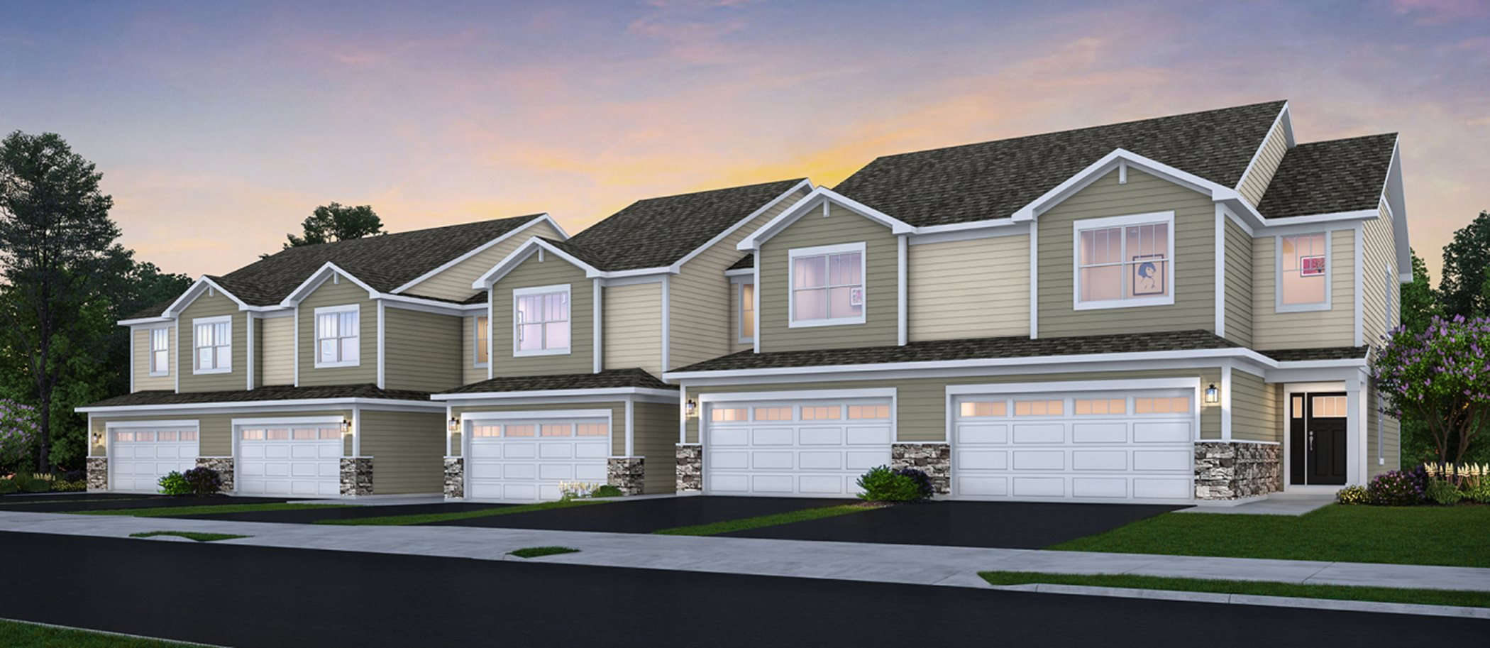 Crossing of Mundelein Traditional Townhomes Building Exterior