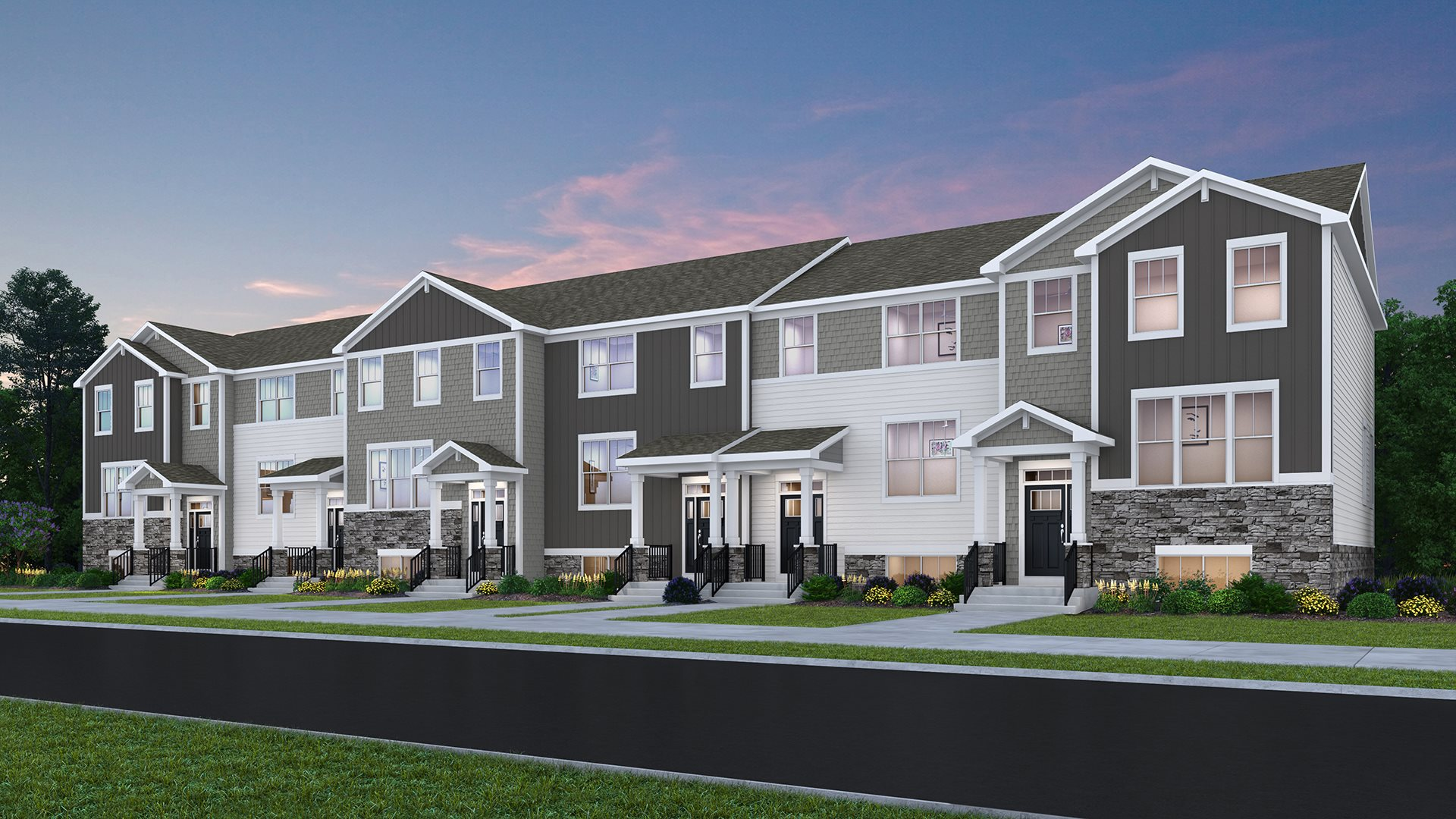 New Homes for sale in South Elgin, Illinois by Lennar featuring our Urban Townhome Collection.