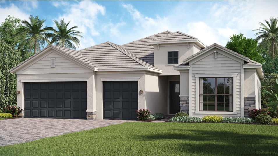 Portico Manor homes The Summerville II D