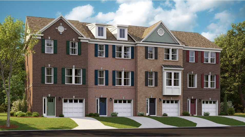 St. Charles St. Charles Townhomes  Tydings II Front Load Garage Exterior A