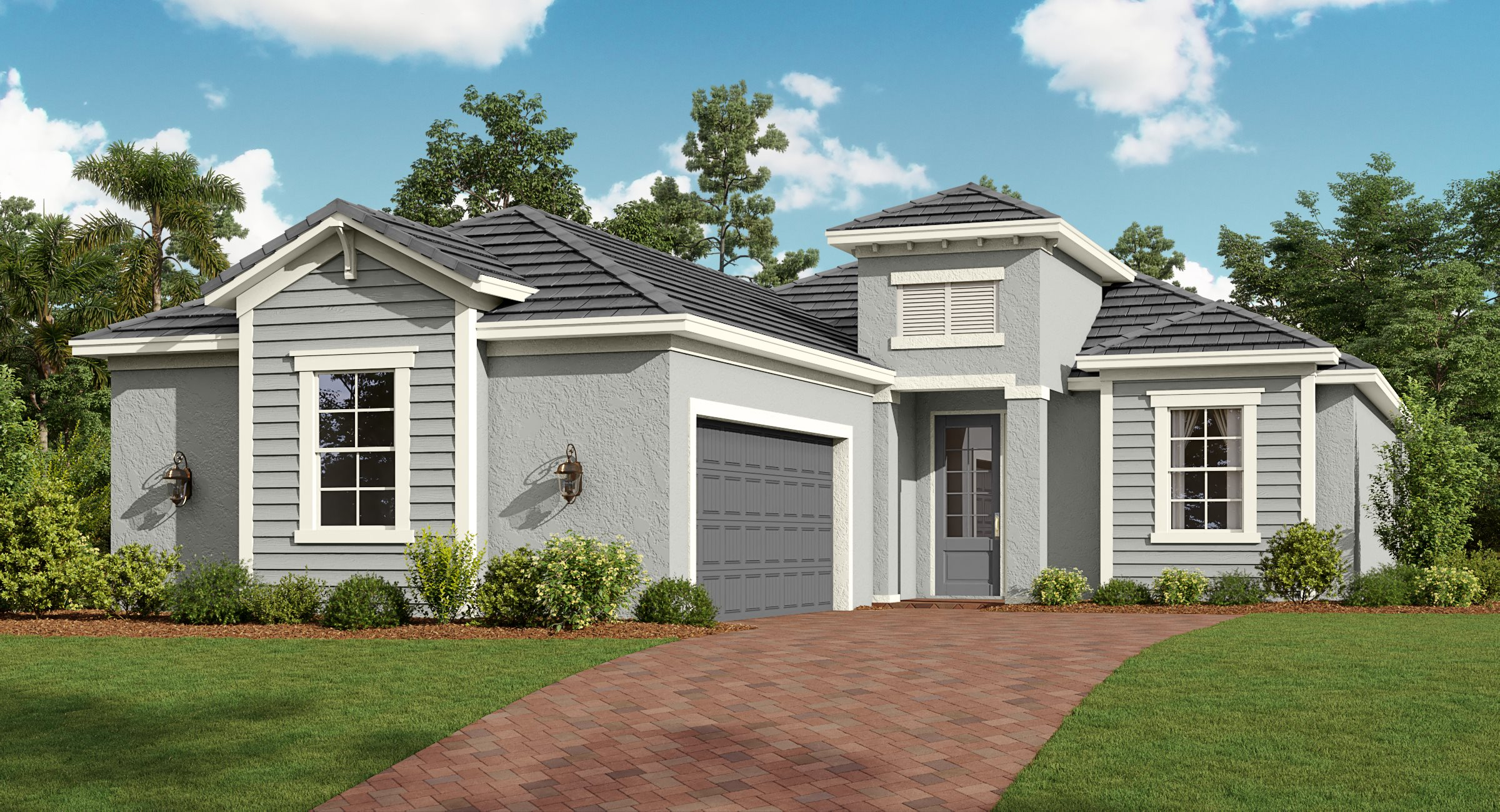 Tuscan exterior rendering of Victoria