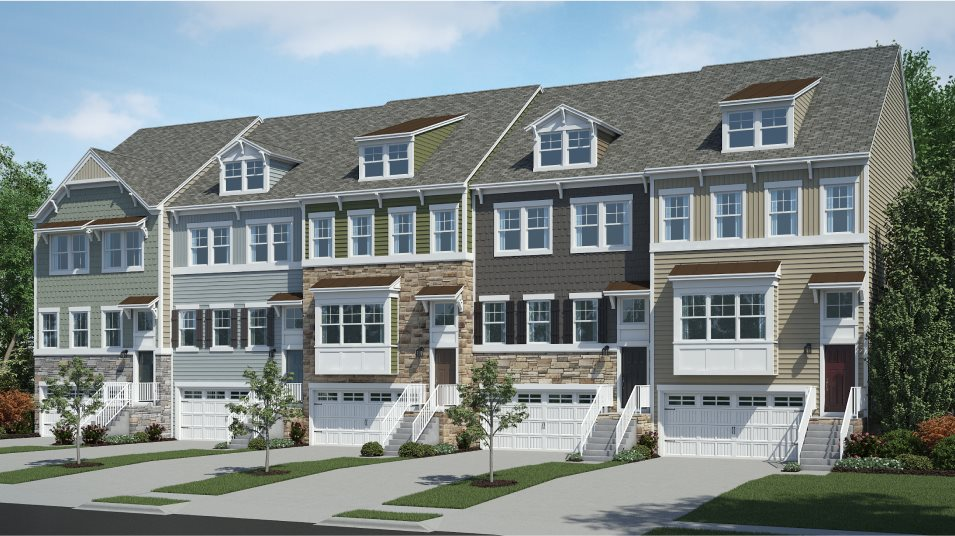 Plantation Lakes North Shore Townhomes Ellicott Front Garage Costal Townhomes
