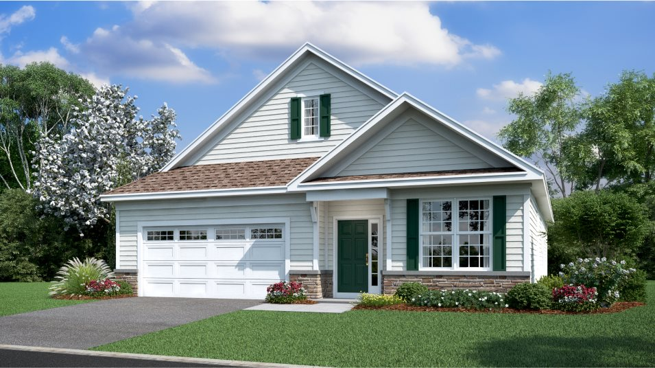 Venue at Smithville Greene Active Adult (55+) Community of Single Homes Merion Exterior A