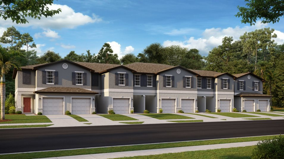 Cypress-Maples Townhomes - Glenmoor Exterior A