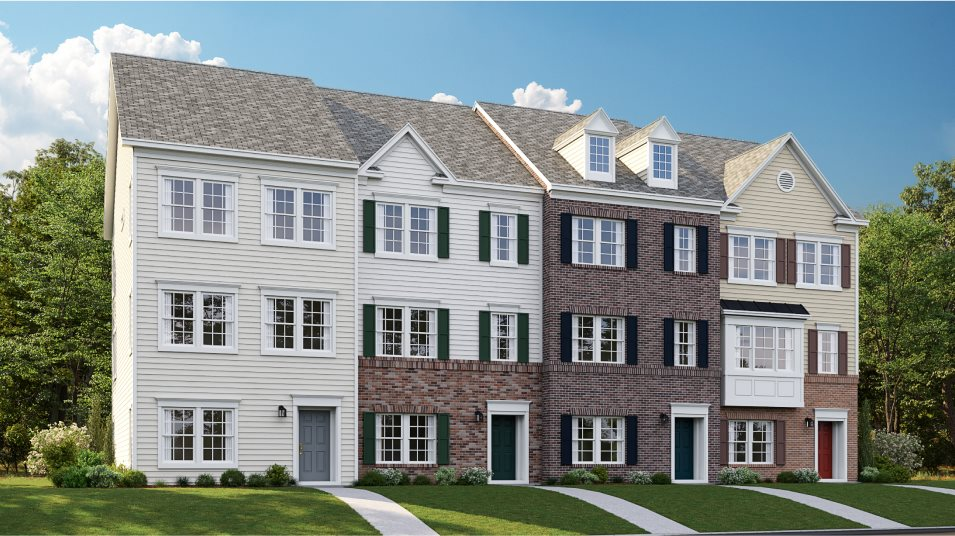 Delacour-at-Blue-Stream Townhome Collection Arcadia Rear Load Garage 1C, 2B, 3C & 4B