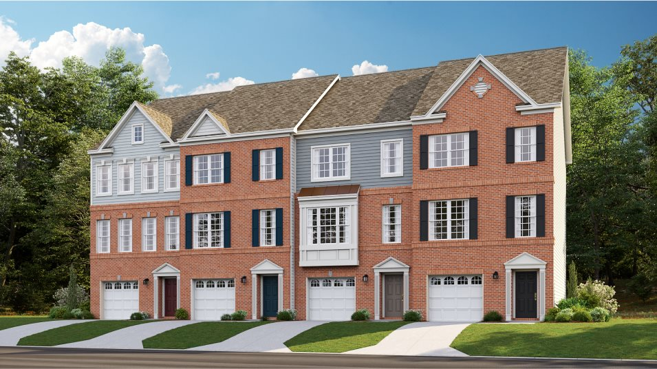 Delacour at Blue Stream Townhome Collection Arcadia Front Load Garage Colonial 1C, 2B, 3C & 4B