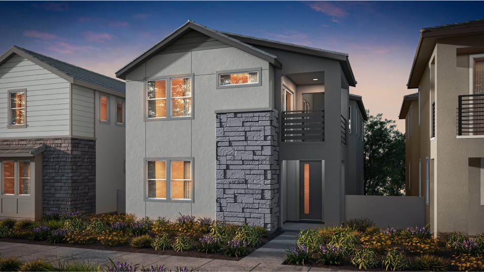 Great Park Neighborhoods Adagio II at Rise Residence 1 Abstract Traditional