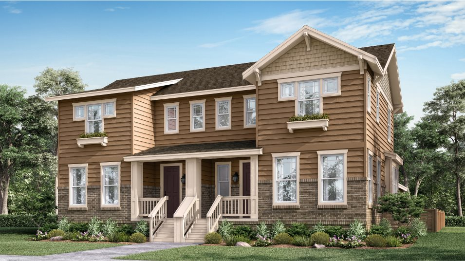 Compass Paired Homes Vibrant- Right Craftsman