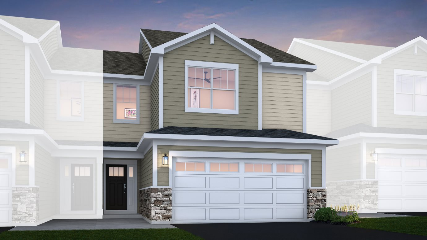 Crossings-of-Mundelein Traditional Townhomes Charlotte ei A