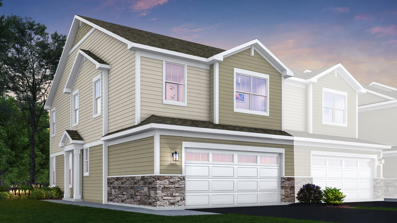 Crossings-of-Mundelein Traditional Townhomes Darcy ei A