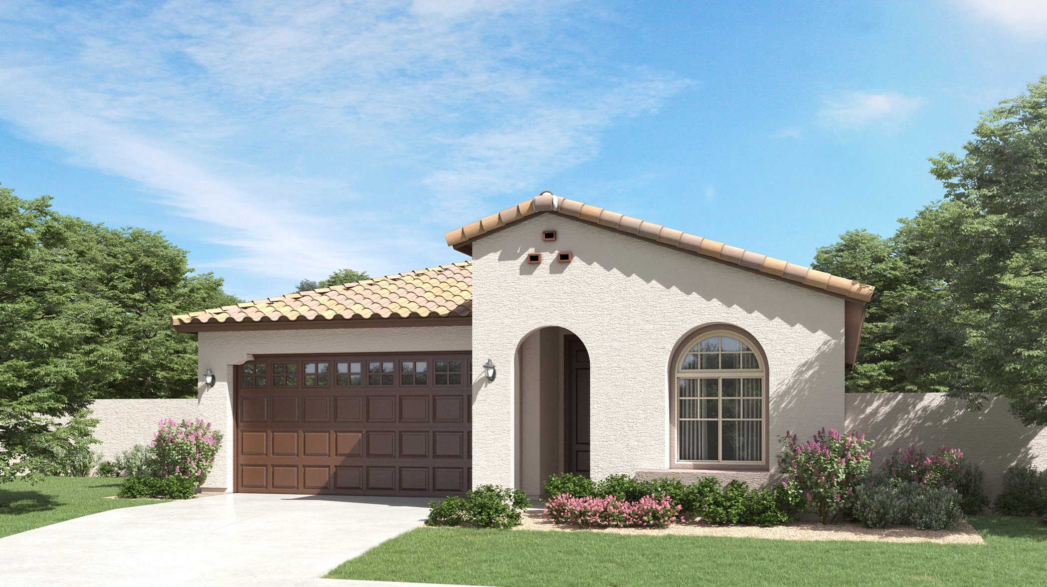 Spanish Colonial Exterior at Discovery at Belrose