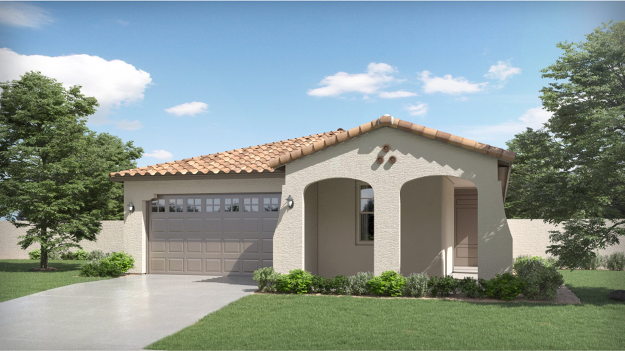 Spanish Colonial Exterior for Plan 3519