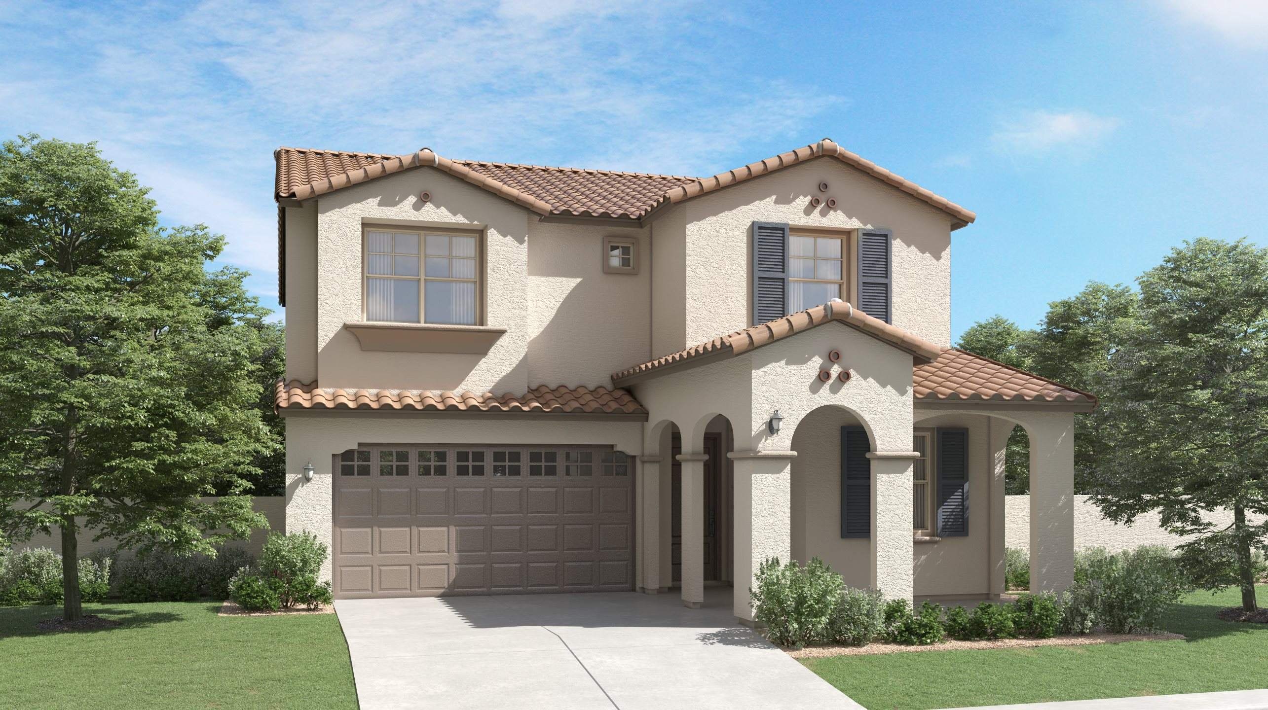 Spanish Colonial Exterior for Plan 3524