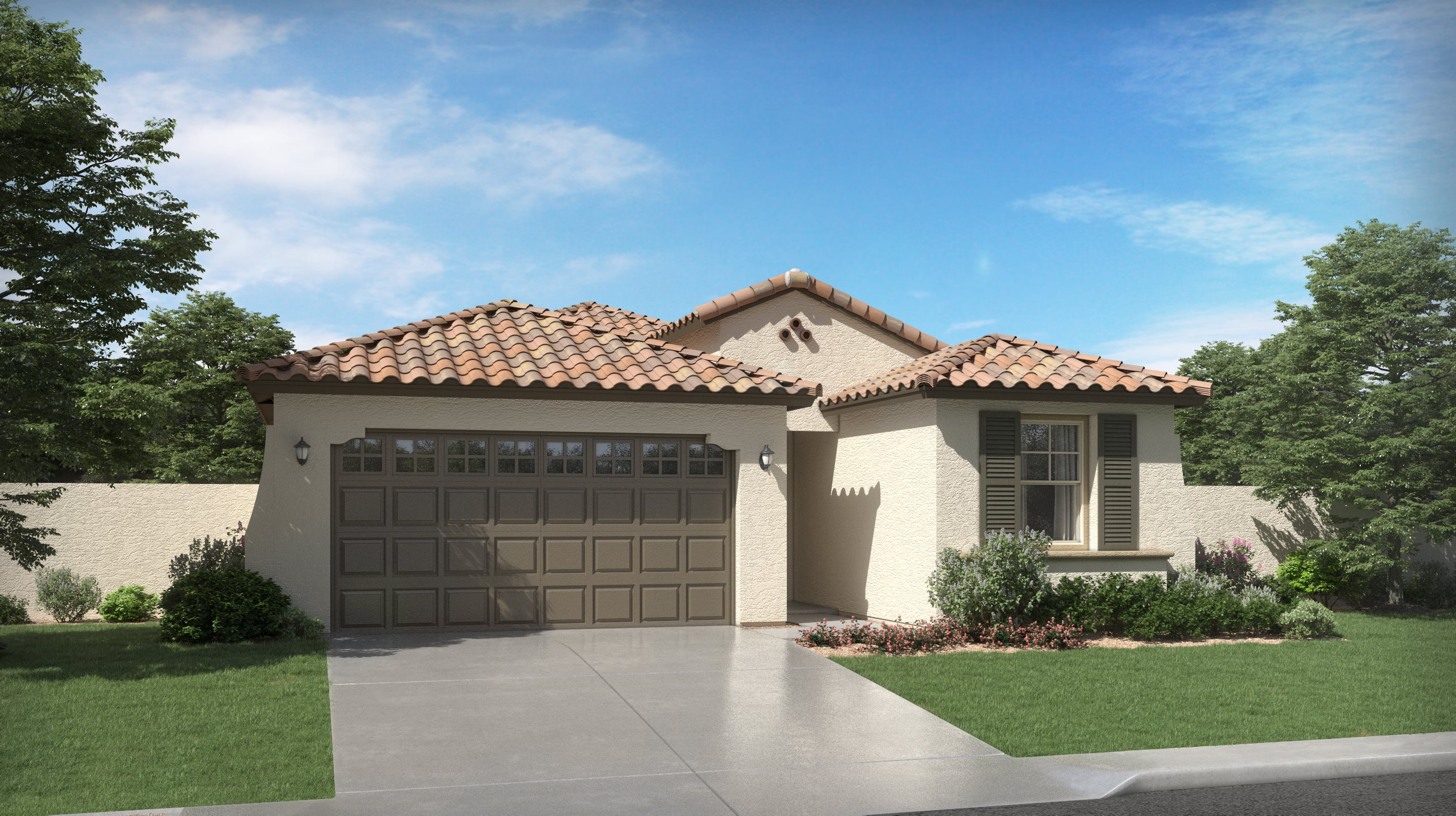 Spanish Colonial Exterior for Plan 3575