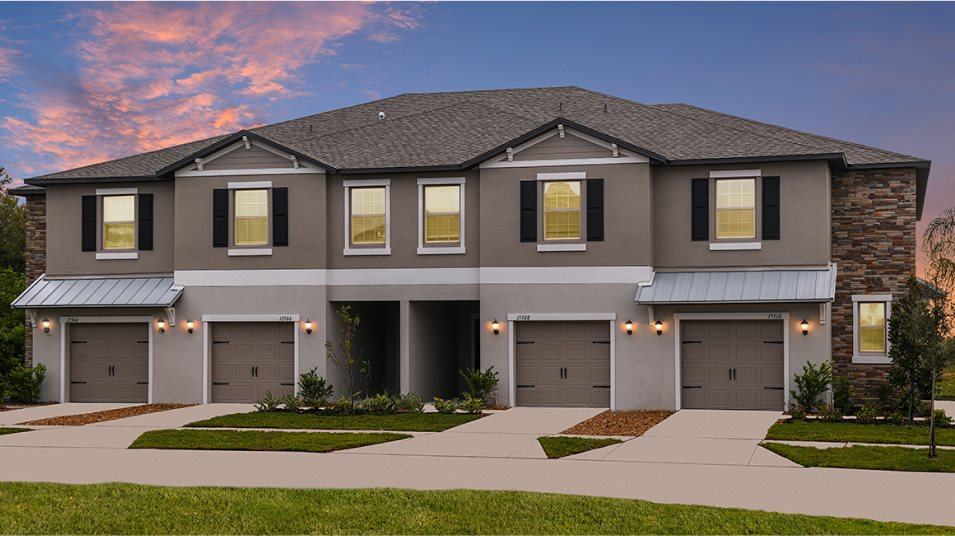 Exterior of townhomes